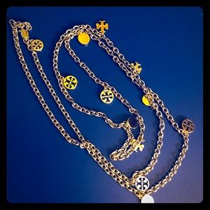 Tory Burch Necklace Silver Gold